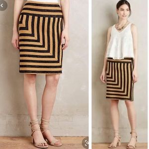 Eva Franco Anthropologie Striped Pencil Skirt